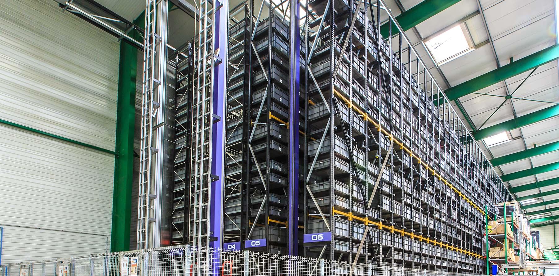Sistema miniload almacén farma| POLYPAL STORAGE SYSTEMS