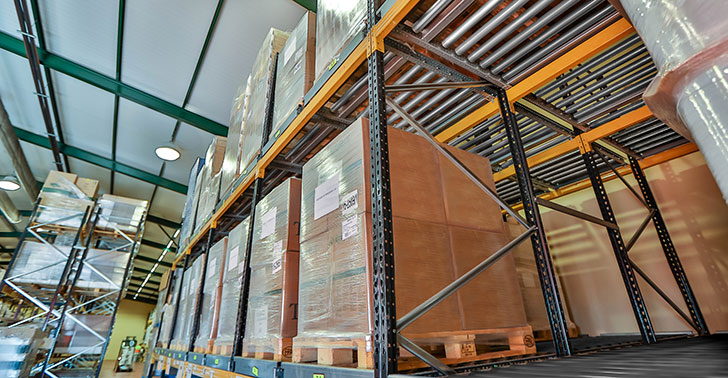 Rodillos dinámicos carga paletizada | POLYPAL STORAGE SYSTEMS
