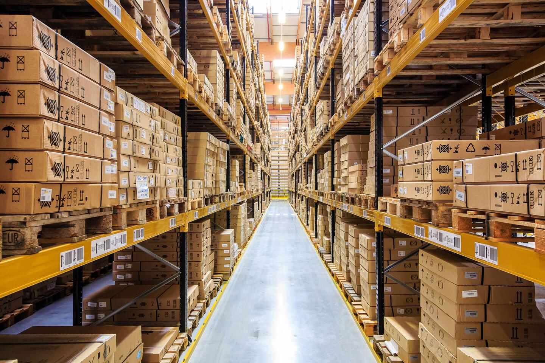Paletización convencional estantería con cajas 1 | POLYPAL STORAGE SYSTEMS