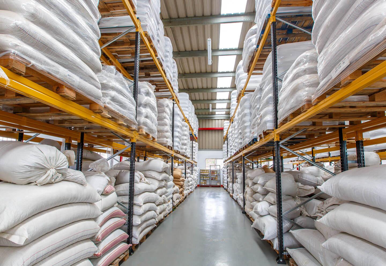 Paletización convencional Herbosa almacén sacos 1 | POLYPAL STORAGE SYSTEMS