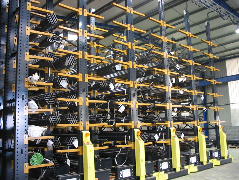 Carga paletizada móvil estantería con tubos | POLYPAL STORAGE SYSTEMS