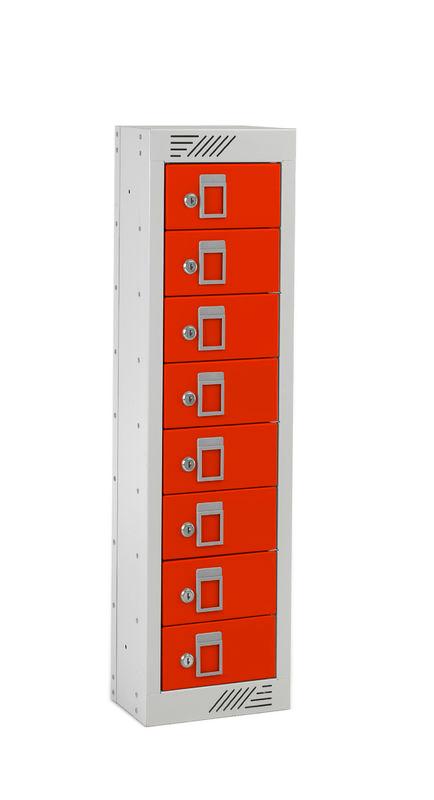 Taquillas objetos pequeños - 8 puertas media altura - POLYPAL STORAGE SYSTEMS