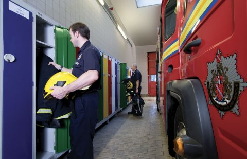 Lockers for emergency services | POLYPAL STORAGE SYSTEMS