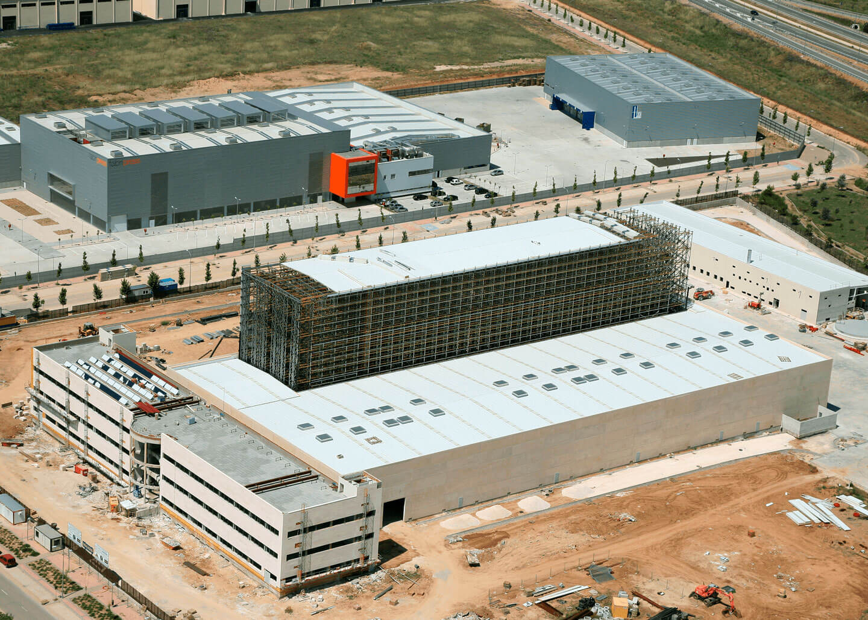 Almacén autoportante en construcción vista aérea | POLYPAL STORAGE SYSTEMS