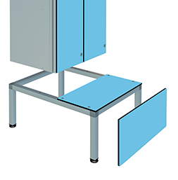 Banc-avec-support-pour-casiers-aluminium | POLYPAL STORAGE SYSTEMS