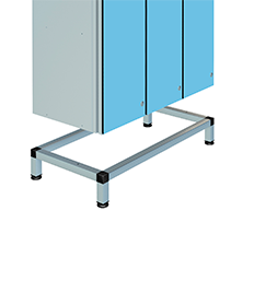 Aluminium locker support stands | POLYPAL STORAGE SYSTEMS