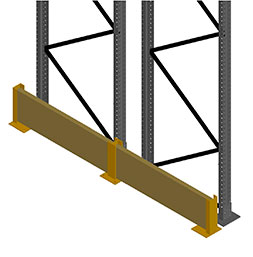 Frame protection with wood board side guard | POLYPAL STORAGE SYSTEMS