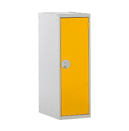 Taquilla escolar media con una puerta color amarillo | POLYPAL STORAGE SYSTEMS