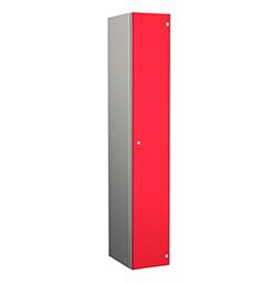 Taquilla de aluminio de una puerta roja | POLYPAL STORAGE SYSTEMS