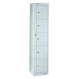 Ausgabeschrank mit 10 Türen Reinweiß | POLYPAL STORAGE SYSTEMS