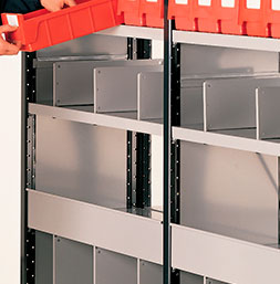 Vertical dividers full or partial | POLYPAL STORAGE SYSTEMS
