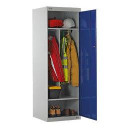 Taquilla de trabajo con cuatro compartimentos | POLYPAL STORAGE SYSTEMS