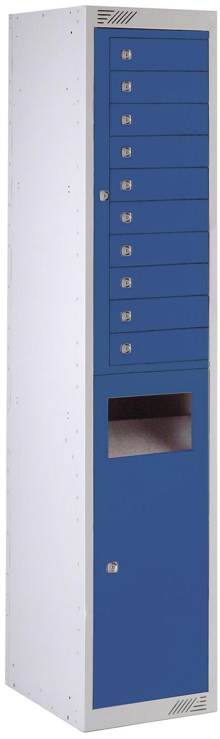 Casier de collecte et de distribution - 10 portes | POLYPAL STORAGE SYSTEMS