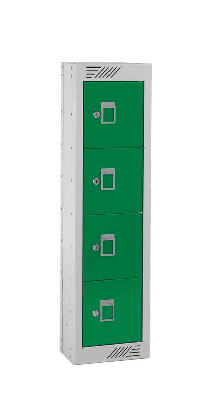 Säilytyslokero, 4 luukkua, keskikorkea - POLYPAL STORAGE SYSTEMS